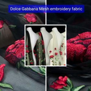 Italian fashion week mesh embroidered fabric sold by panel/Colour Black,Beige