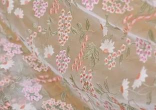Georges Hobeika embroidery silk fabric