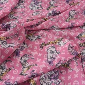 Louis Vuitton Silk Stretch Designer Fabric