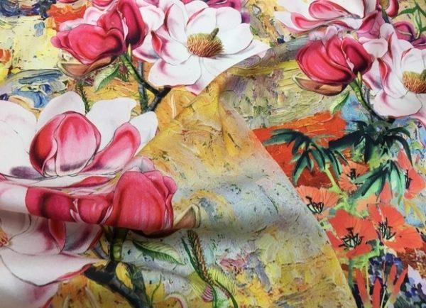 Valentino Fabric inkjet Mulberry silk crepe