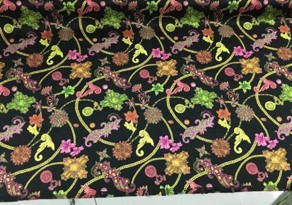 Versace Mulberry silk satin fabric