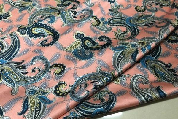 Etro silk stretch inkjet paisley design