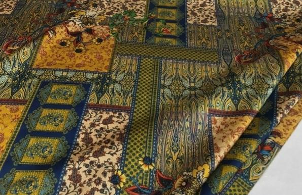 Etro silk stretch with Ethnic design