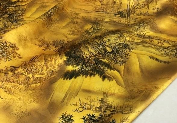 Dior silk satin heavy fabric