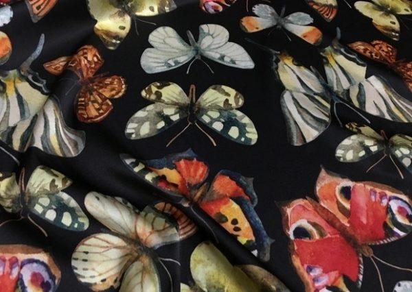 Italian Designer Silk Fabric butterfly