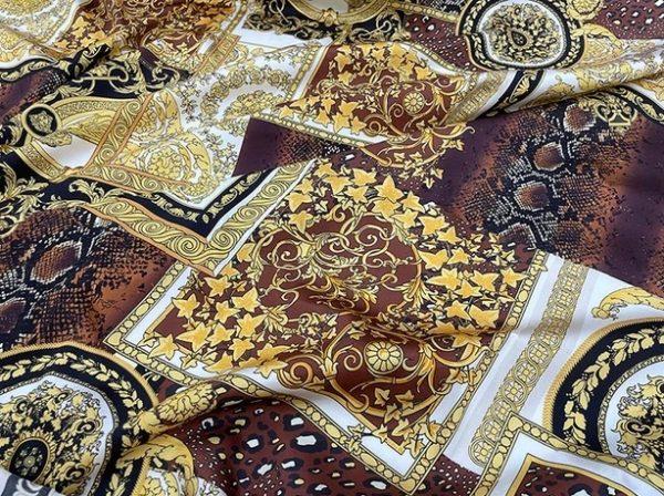 Versace Fabric mulberry Silk stretch