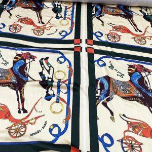 Horse print silk