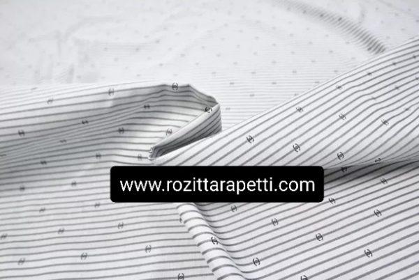Chanel Cotton jacquard fabric Logo