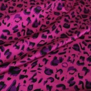 Roberto Cavalli silk fabric with leopard print