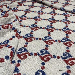 Italian Wool Cotton Tweed Fabric