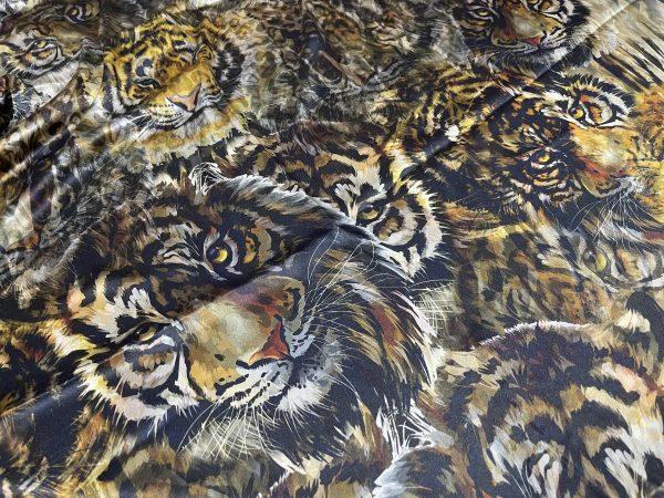 Versace Silk Fabric Tiger print,Alta Moda