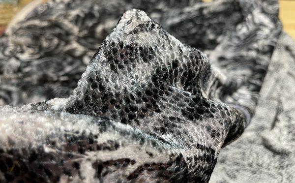 Versace Atelier Tiger print fabric velvet, devore Silk
