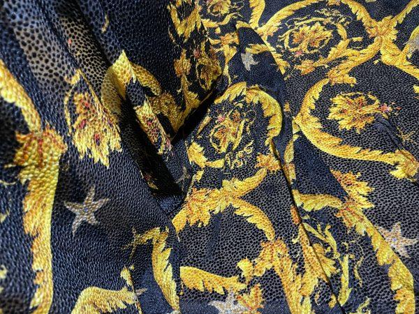 Versace fabric Devore on silk Sea Collection