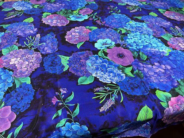Exclusive Italian Silk Fabric Fashion Week
