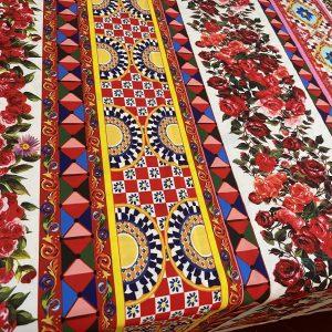 Sicily Show Cotton Fabric/ItalianSicily Show Cotton Fabric/Italian