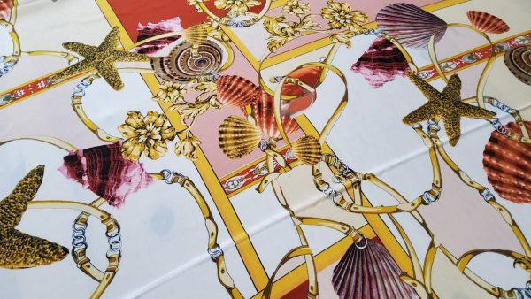 Versace Atelier Sea Collection fabric Silk Crepe de Chine Alta Moda