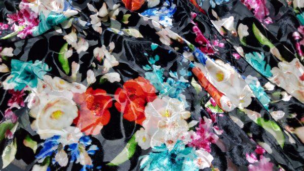 Valentino devore fabric burnt put silk velvet Alta Moda