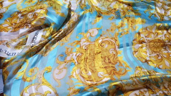 Versace Silk Chiffon Sheer,very pleasant to the akin,perfect for tunic, kimono,kaftan,dress,skirt