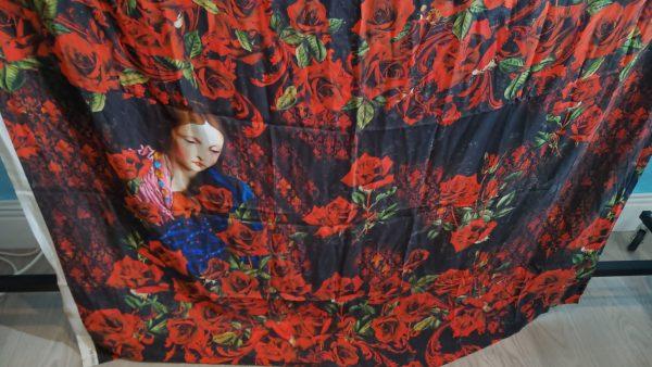 Designer Silk Fabric Alta Moda Sacred Pattern
