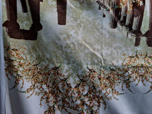 Italian Designer Cotton fabric Roman Architectural Design,Alta Moda Fabric,Fashion week Capri Show,Ancient Rome collection 5 ⋆ Rozitta Rapetti