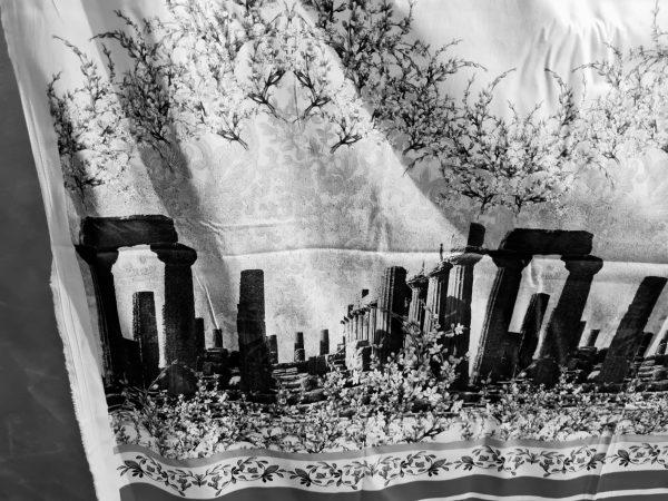 Italian Designer Cotton fabric Roman Architectural Design,Alta Moda Fabric,Fashion week Capri Show,Ancient Rome collection 2 ⋆ Rozitta Rapetti