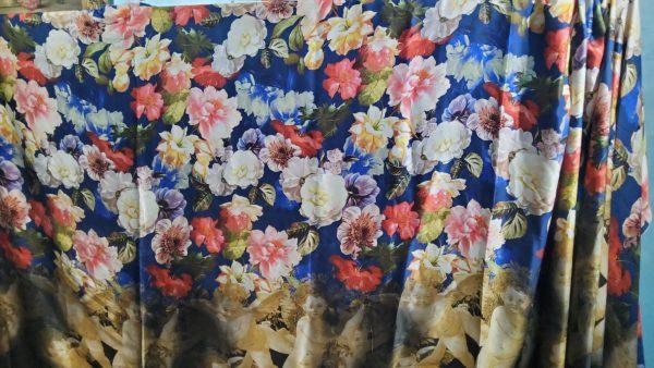 Italian Designer Silk Fabric Fashion