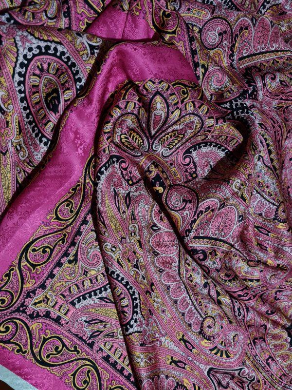 Etro Exclusive Italian Fashion week Silk fabric
