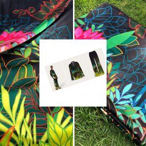 Gucci silk stretch satin fabric