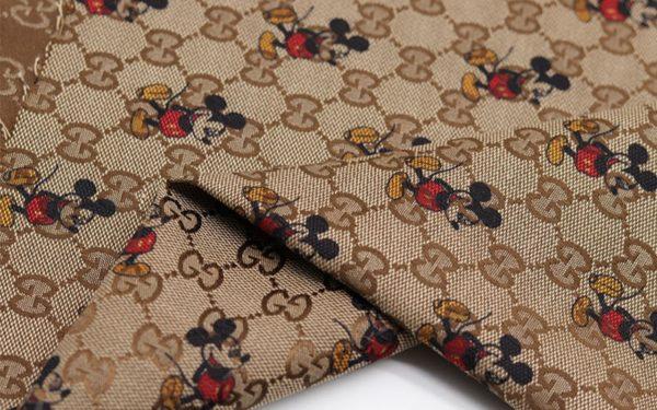 Gucci jacquard Mickey Mouse fabric