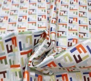 Fendi mixed color jacquard fabric