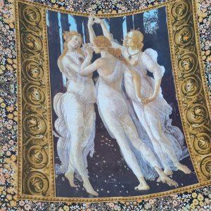 "Sandro Botticelli ""Three Graces"" silk crepe fabric"