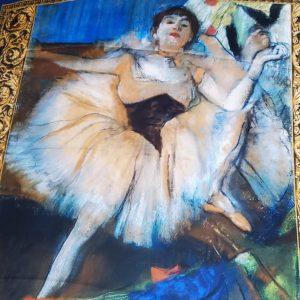 Italian Silk Satin Fabric Edgar Degas Ballet Dancer