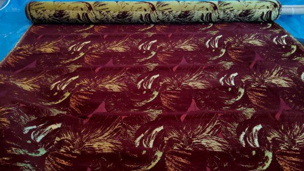 Rubella velvet jacquard hand wooven Italian fabric
