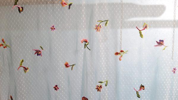 Oscar De la renta mesh embroidered fabric
