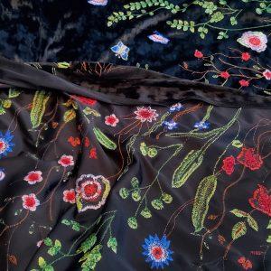 Oscar De La Renta velvet jacquard Fabric