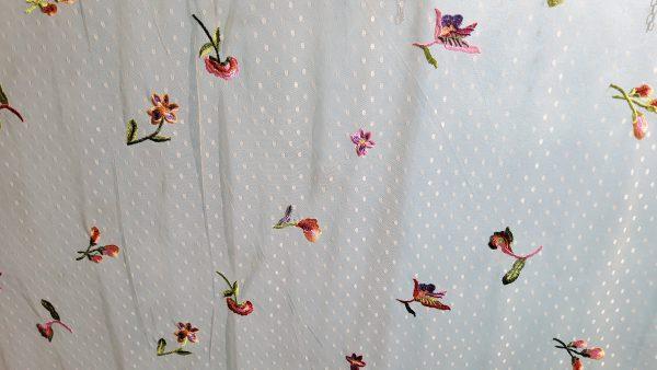 Oscar De la renta mesh embroidered fabric on Ivory