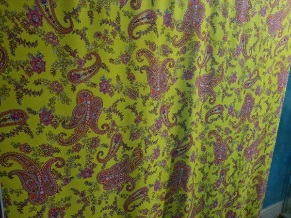 Etro silky cotton poplin with classic Paisley design