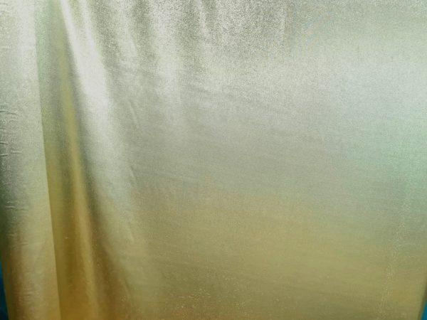 Italian Designer fabric Fashion Show gold platinum silk
