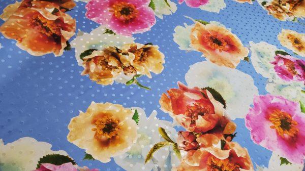 Oscar De La Renta silk fabric with floral design