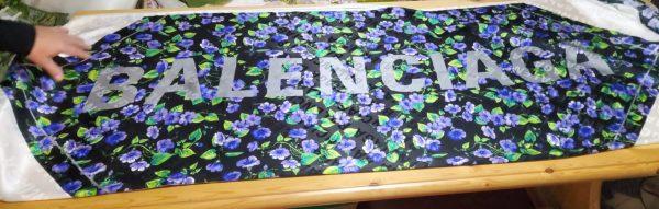 Balenciaga Silk Fabric with floral ornament