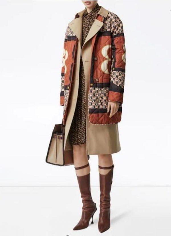 Burberry silk fabric pattern print for jacket,sold by huge panel.Fashion week Italian fabric 1 ⋆ Rozitta Rapetti