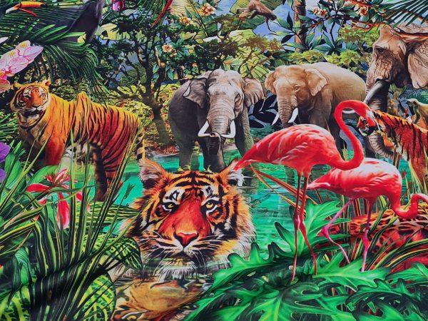 Italian Silk Fabric jungle print