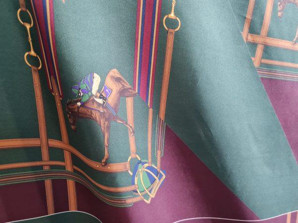 Ralph Lauren Silk Twill Fabric with jockey