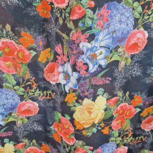 Italian chiffon floral pattern