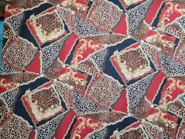 fabric Baroque and tiger print pattern