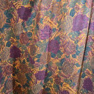Alta Moda Italian Wool Fabric flowers pattern