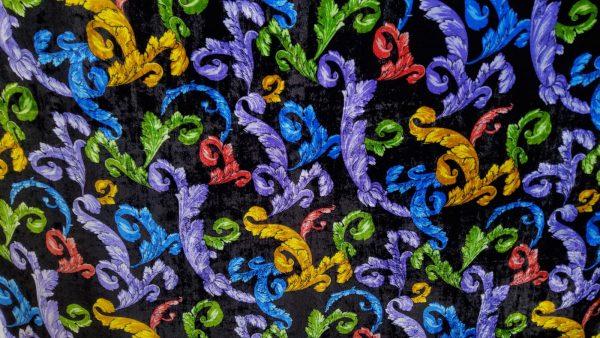 Versace Atelier very colourful print fabric velvet