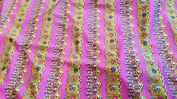 Silk stretch jewellery design Fabric